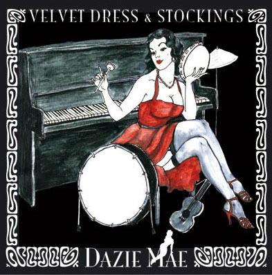 Velvet Dress & Stockings - Dazie Mae